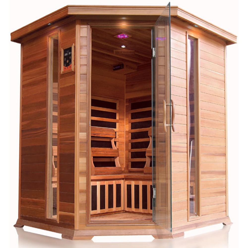 SunRay Bristol Bay 4 Person Corner Infrared Sauna
