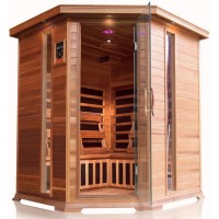 SunRay Bristol Bay 4 Person Corner Infrared Sauna